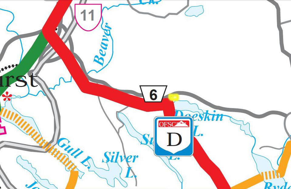 Doe Lake Gravenhurst Muskoka Ontario Snowmobiling