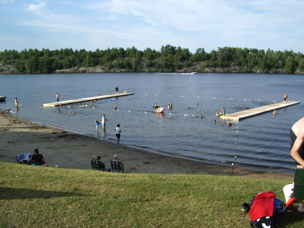 Gravenhurst Muskoka Ontario Public Swimming Beach